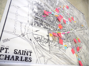 Oral History Class Mapping of Interviewees' Stories at Share the Warmth, Fall 2014